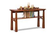 Artesa Open Sofa Table with Shelf