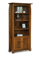 Boulder Creek 4 Shelf 2 Door Bookcase