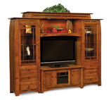 Boulder Creek  6 Piece Wall Unit with Adjustable Bridge