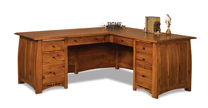 Boulder Creek 8 Drawer L Desk with Finished Backside