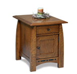 Boulder Creek Enclosed End Table with Drawer and Door