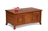 Carlisle Enclosed Coffee Table with Doors