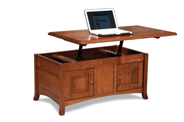 Carlisle Enclosed Lift Top Coffee Table with Doors