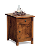 Centennial Enclosed End Table with Drawer and Door