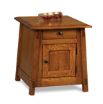 Colbran Enclosed End Table with Drawer and Door