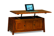 Colbran Enclosed Lift Top Coffee Table with Doors