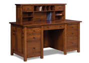 Kascade 7 Drawer Desk with 2 Drawer Desk Topper