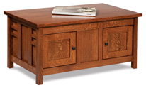 Kascade Enclosed Coffee Table with Doors