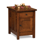 Kascade Enclosed End Table with Drawer and Door