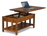 Kascade Open Lift Top Coffee Table with Counterweight