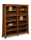 "Modesto 10 Shelf 6"" Double Bookcase"