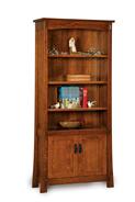 Modesto 4 Shelf 2 Door Bookcase