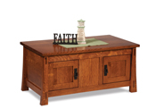 Modesto Enclosed Coffee Table with Doors