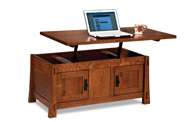 Modesto Enclosed Lift Top Coffee Table with Doors