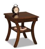 Sierra Open End Table with Shelf