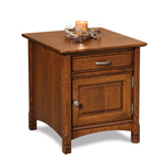 West Lake Enclosed End Table with Drawer and Door