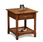 West Lake Open End Table with Drawer