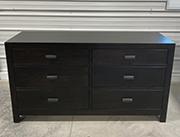 Sonoma 6 Drawer Dresser in Oak & Ebony
