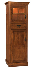 Heritage Mission 2-Door Pantry Cabinet with Drawer
