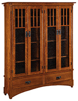 """72"""" Mission Display Bookcase with 4 Door and Drawer (HDMB16D)"""