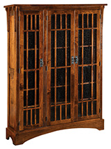 Midway Mission 3 Door Bookcase with 2 Sections
