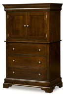 "Palm Valley 68"" 3 Drawer 2 Door Armoire"