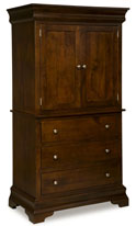"Palm Valley 77"" 3 Drawer 2 Door Armoire"