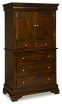Palm Valley 5 Drawer 2 Door Armoire