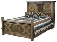 Glacier Bed with Bookcase Headboard