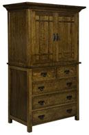 Kingston Prairie 5 Drawer 2 Door Armoire