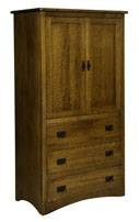 Mission Economy 3 Drawer 2 Door Armoire