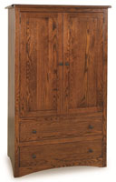 Mission Economy 2 Drawer 2 Door Armoire