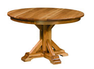 Rocky Point Round Dining Table with Leaves