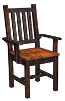 Rough Cut Maplewood Arm Chair