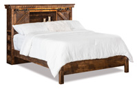 Bookcase Headboard Bed