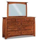 """Boulder Creek 73"""" 9 Drawer Dresser"""