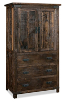 Ironwood 3 Drawer 2 Door Armoire