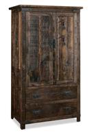 Ironwood 2 Drawer 2 Door Armoire