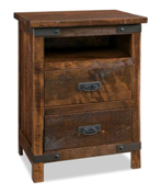 Ironwood 2 Drawer Night Stand with Opening