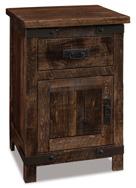 Ironwood 1 Drawer 1 Door Night Stand