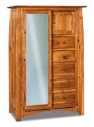 Boulder Creek Chifferobe with Sliding Door