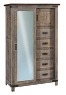 Ironwood Chifferobe with Sliding Door