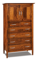Imperial 6 Drawer 2 Door Chest Armoire