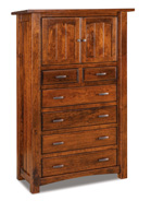 Timbra 6 Drawer 2 Door Chest Armoire