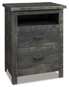 Dumont 2 Drawer Night Stand with Opening