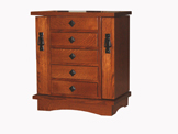5 Drawer Mission Jewelry Chest