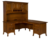 Carlisle L Shaped Desk with Hutch