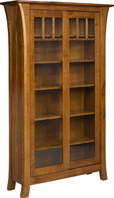 Ensenada Bookcase with Sliding Doors