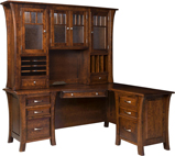 Ensenada L Shaped Desk with Hutch