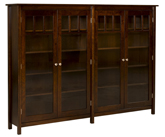 Mission Double Bookcase with Doors